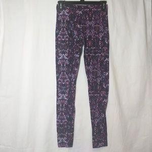 Decree Leggings Purple Pink Black White Small
